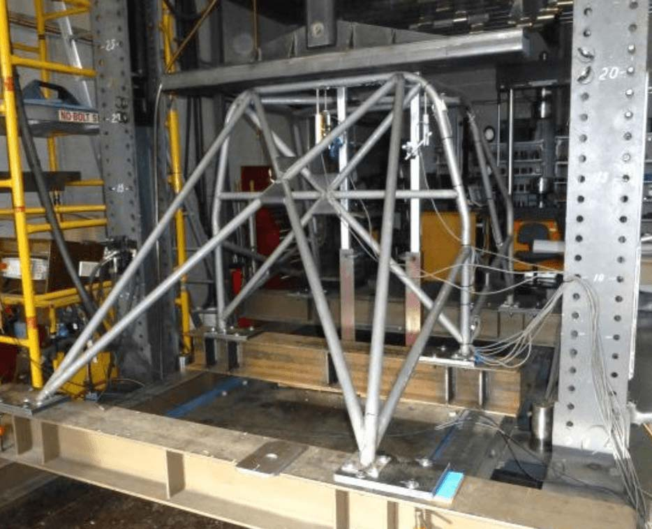 Physical test on a full size rollcage